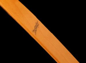 The name is part of the craftsmanship in a Dwyer Longbow